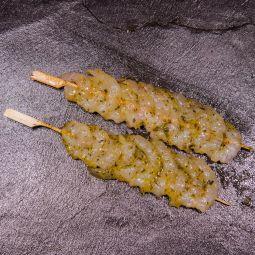 Brochettes de scampi