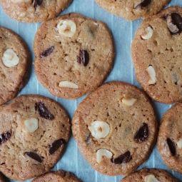 Cookies noisettes & chocolat noir 125gr