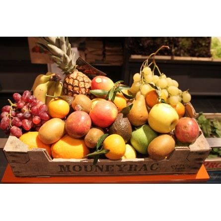 Grand panier de fruits ±10kg  1pc