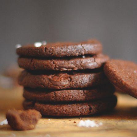 Cookies chocolat noir et fleur de sel 125gr